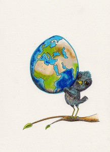 Bird Holding Up the World