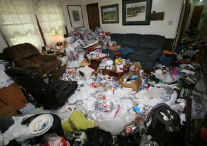 Hoarding living room