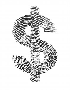 Money Thumb Print