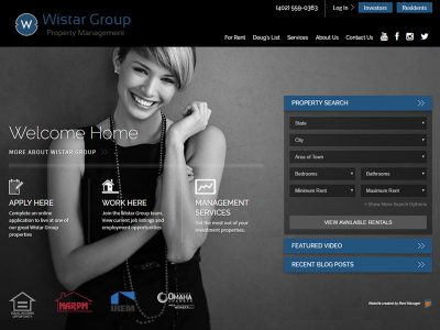 Featured Website Screenshot - Wistar Group