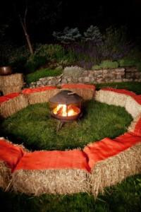 september festive campfire
