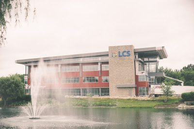LCS Headquarters - I-71 Side of Building with lake