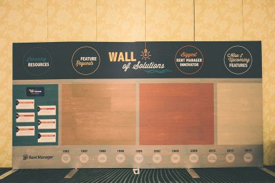 Rent Manager User Conference 2016 Wall of Solutions