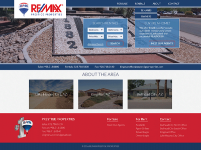 Remax Prestige Properties Website Example