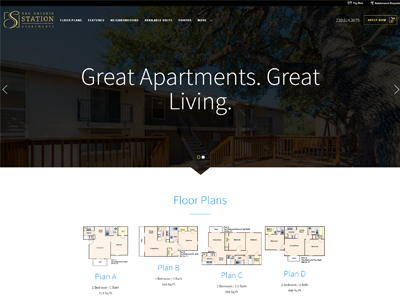 SA Station Apartments Website Example
