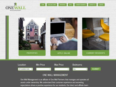 Onewall Management Website Example