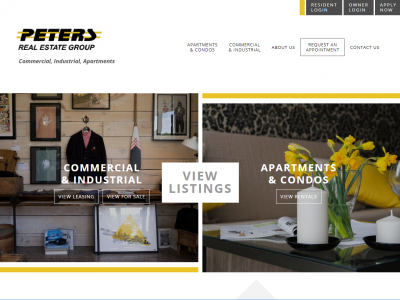 Peters Real Estate Group Website Example