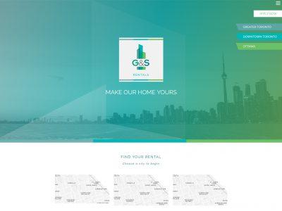 G&S Rentals Website Example