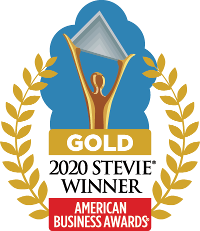 Gold Stevie Winner for Mobile App, Live Event, & Sales Brochure logo