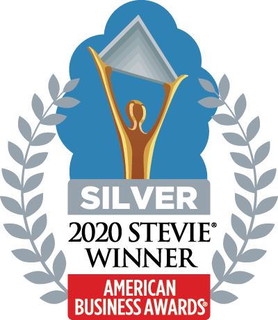 Silver Stevie Winner for Entrepreneur of the Year, Dave Hegemann logo