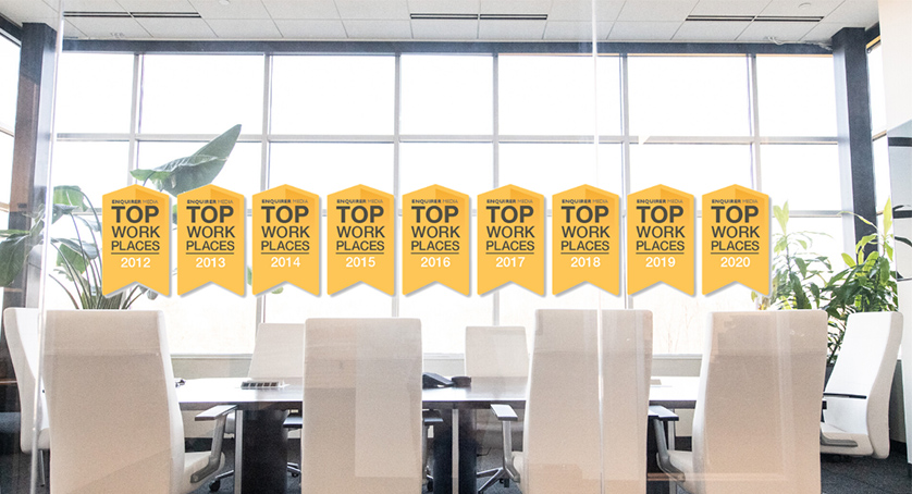 Top Workplaces logos