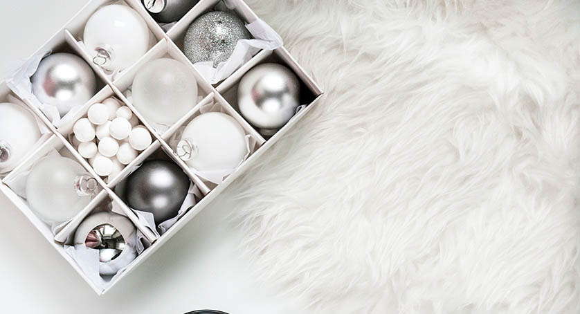 White and Silver Ornaments