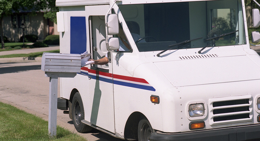 Mail Delivery truck